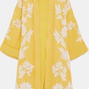 Zara Jackets & Coats - Embroidered Kimono